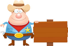Cartoon Sheriff Sign Royalty Free Stock Photos