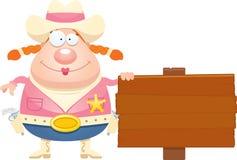 Cartoon Sheriff Sign Stock Photo