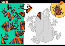 Cartoon shield bug jigsaw puzzle game Royalty Free Stock Image
