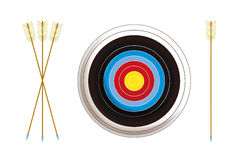 Cartoon shield for practice shooting and arrows - isolated Stock Photo