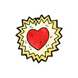 cartoon shining heart symbol Stock Photo