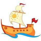 Cartoon Ship Royalty Free Stock Photography