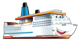 Cartoon ship. Beautiful illustration for the children Stock Images