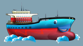 Cartoon ship. Beautiful illustration for the children Stock Photos