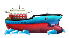Cartoon ship. Beautiful illustration for the children Royalty Free Stock Photos