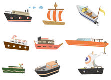 Cartoon ship icon Stock Photography