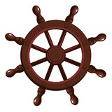 Cartoon ship`s wheel. On a white background. Vector illustration Royalty Free Stock Photography