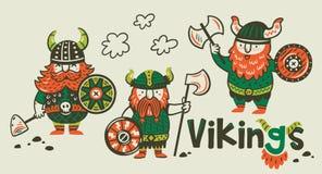 Cartoon ship. Scandinavian viking drakkar Royalty Free Stock Photos