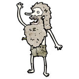 Cartoon ship wrecked hermit man Royalty Free Stock Images