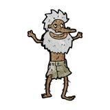 Cartoon shipwrecked man Royalty Free Stock Photo