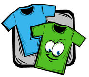 Cartoon shirt Stock Images
