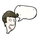 Cartoon shocked expression Royalty Free Stock Photo