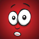 Cartoon shocked face Stock Image