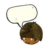 Cartoon shocked face with speech bubble Stock Photography