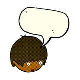 Cartoon shocked face with speech bubble Royalty Free Stock Photo