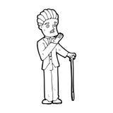Cartoon shocked gentleman Royalty Free Stock Image