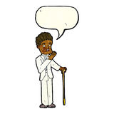 Cartoon shocked gentleman with speech bubble Stock Photography