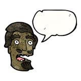 Cartoon shocked man with beard Royalty Free Stock Photography