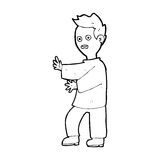Cartoon shocked man Royalty Free Stock Image
