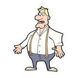 Cartoon shocked man Stock Image