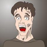 Cartoon Shocked Man Stock Photos