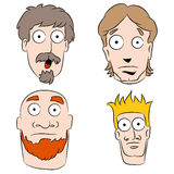Cartoon Shocked Men Set Stock Image