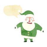 Cartoon shocked santa claus with speech bubble Royalty Free Stock Photo