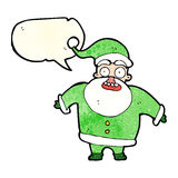 Cartoon shocked santa claus with speech bubble Stock Images