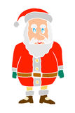 Cartoon shocked santa claus Stock Images