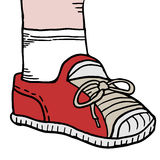 Cartoon shoe Royalty Free Stock Photography