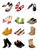 Cartoon shoes icon Royalty Free Stock Images