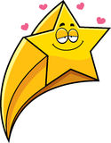 Cartoon Shooting Star In Love Royalty Free Stock Image