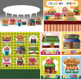 Cartoon shop/house card Stock Photo