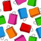 Cartoon Shopping Bags Seamless Pattern Royalty Free Stock Images