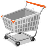 Cartoon Shopping Cart Stock Photo
