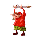 Cartoon short rebel / separatist fighter Royalty Free Stock Images