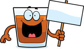 Cartoon Shot Glass Sign Royalty Free Stock Photo