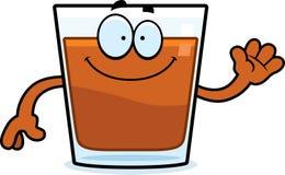 Cartoon Shot Glass Waving Stock Image