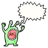 Cartoon shouting alien Royalty Free Stock Photos