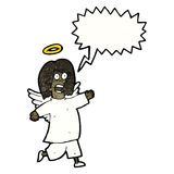 Cartoon shouting angel Stock Photos
