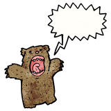 Cartoon shouting bear Stock Image