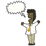 Cartoon shouting boss Royalty Free Stock Photos