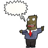 Cartoon shouting boss Royalty Free Stock Photo