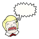 Cartoon shouting boy Stock Images