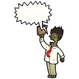 Cartoon shouting businessman Stock Images