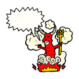 Cartoon shouting devil Royalty Free Stock Image