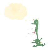 cartoon shouting frog Stock Photography