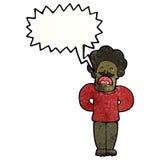 Cartoon shouting mustache man. Retro cartoon with texture. Isolated on White Stock Photo