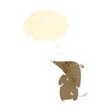 Cartoon shrew with thought bubble Stock Photography