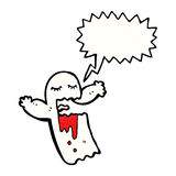 Cartoon shrieking ghost Royalty Free Stock Images